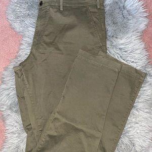 Gap Olive Green Slim Khaki Pants